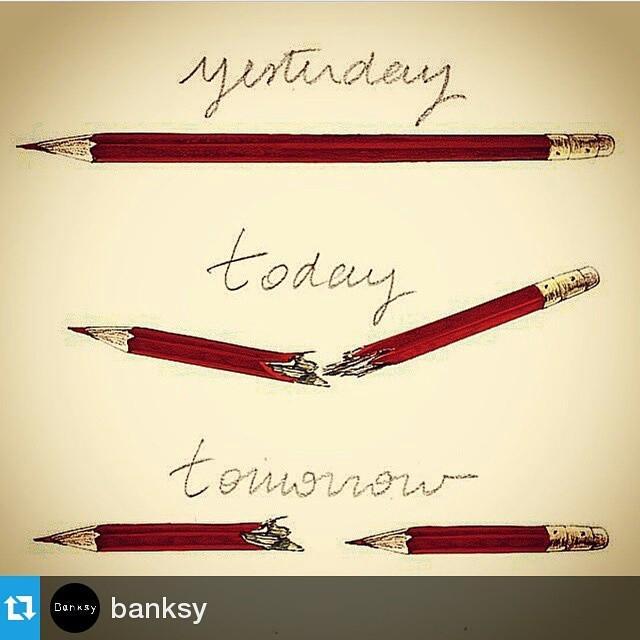#Repost @banksy ・・・ RIP #JeSuisCharlie #CharlieHebdo  #tw http://t.co/sYECbk4PXP
