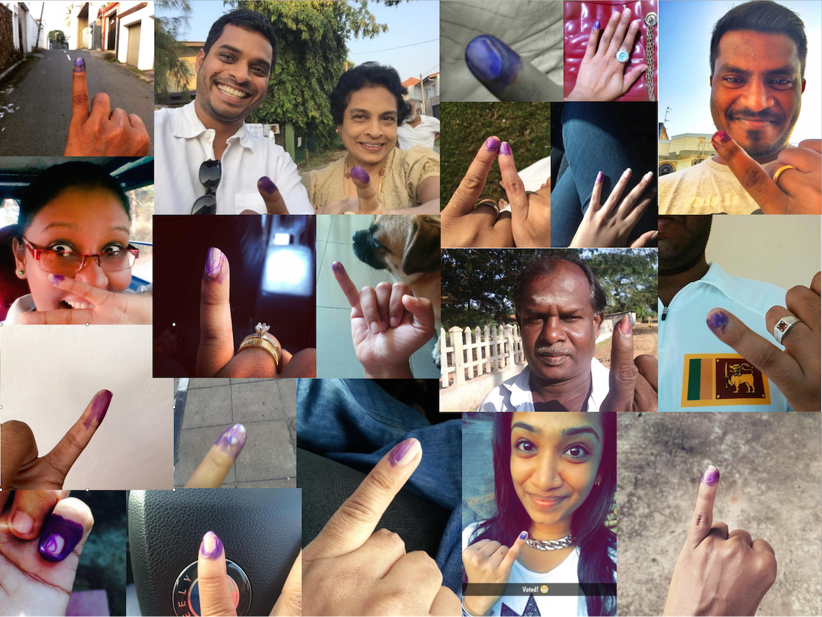 Lovely to see #IVotedSL going viral today. Join us. Please go out & vote before 4pm! #PresPollSL #lka #srilanka http://t.co/MdUUm6QIuC