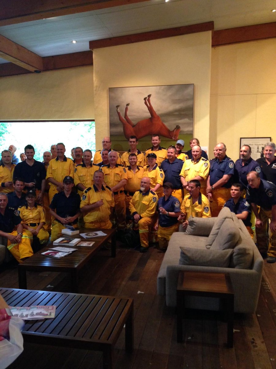 Great @NSWRFS guys visit b4 heading home love to see you again minus the yellow next time :) @TourBarossa #SAFires http://t.co/ppwUV7iC3R