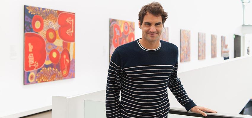 He asked we replied @rogerfederer chills out at GOMA in #Brisbane! #brisbaneanyday #thisisqueensland Enjoy your visit http://t.co/KWGm7A3pVf