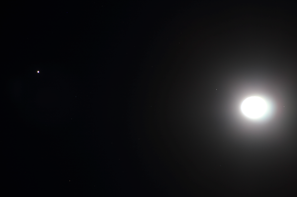 RT @adleon7: Júpiter y la Luna desde Querétaro, México http://t.co/5rZR4SkH4h
