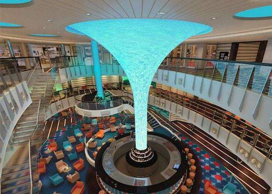 This new @CarnivalVista Atrium looks amazing. LED tower. #TakeInTheVista #cruise http://t.co/jwWjYCsip4