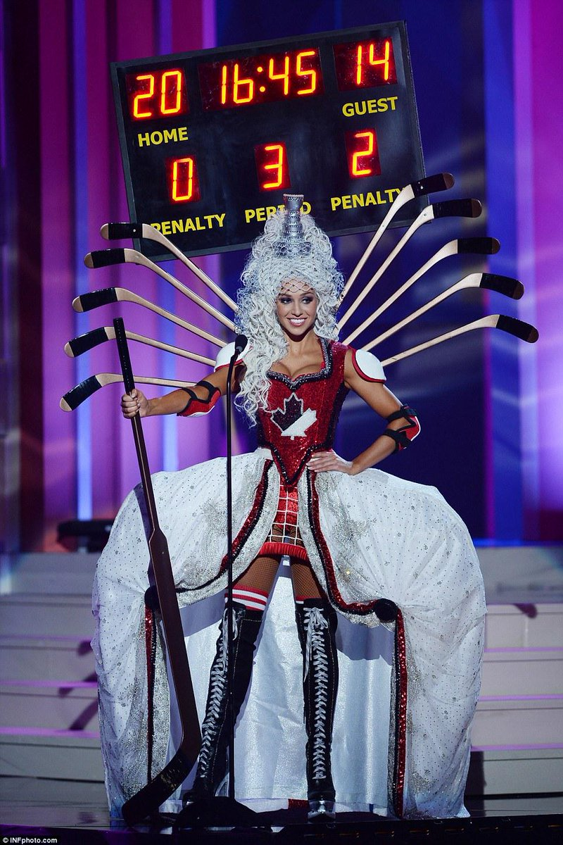 This has nothing to do with news, but Miss Canada's costume at the Miss Universe pageant is blowing my tiny mind. http://t.co/ewvpXM6mmD