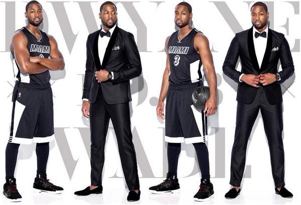Los nuevos uniformes de los Miami Heat (Black Tie Edition) son una maravilla. Well done, @MiamiHEAT. http://t.co/mm14Kr9vGp (vía @AHuerta7)