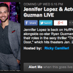 RT @HuffPostLive: .@JLo is back! This time with @RyanGuzman to discuss their new thriller