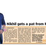 RT @sillijo: @actor_Nikhil gets a pat from Rajamouli, DC from 21th Jan.