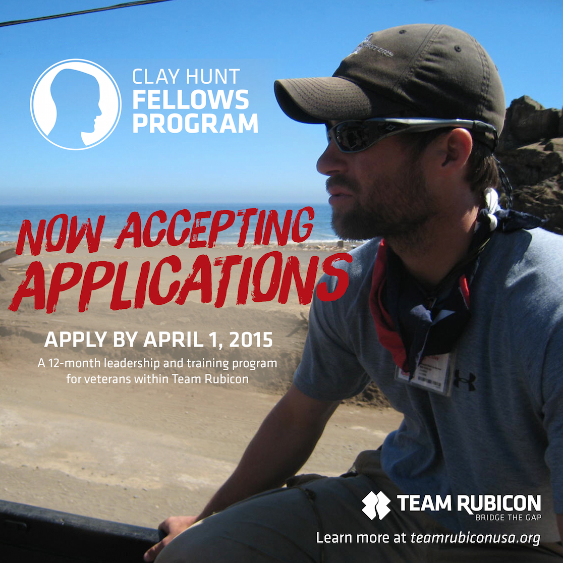 Now seeking candidates for the third class of the Clay Hunt Fellows Program. Apply today: http://t.co/2SDH3bfxLb http://t.co/vmVHhBsfXy