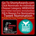 @LyndaLopez08 Please vote for @jimmystarshow for best #webshow in the 2015 @shortyawards http://t.co/eVQCFdRAvY #GAYMarriedCoupleHosts