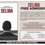 Los Angeles students, go see Selma for FREE!