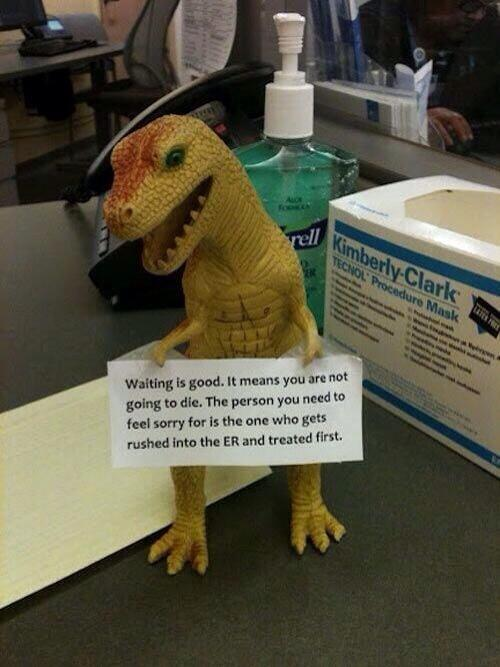 A hospital waiting room has some unexpected wisdom: http://t.co/aOfJZhjTK3