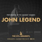 RT @TheGRAMMYs: We can't wait to see GRAMMY winners @johnlegend & @common perform