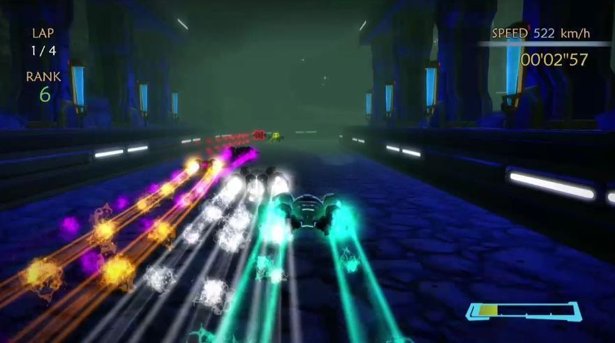 現在Project Sparkコミュニティゲーム一押しのサイバーレースゲーム、その名もX-ZERO。どちらかというとF-ZEROよりもWipeout風。コミュニティゲーム、最近じりじりと力作が増えてきた。 http://t.co/uomUfMcuFG