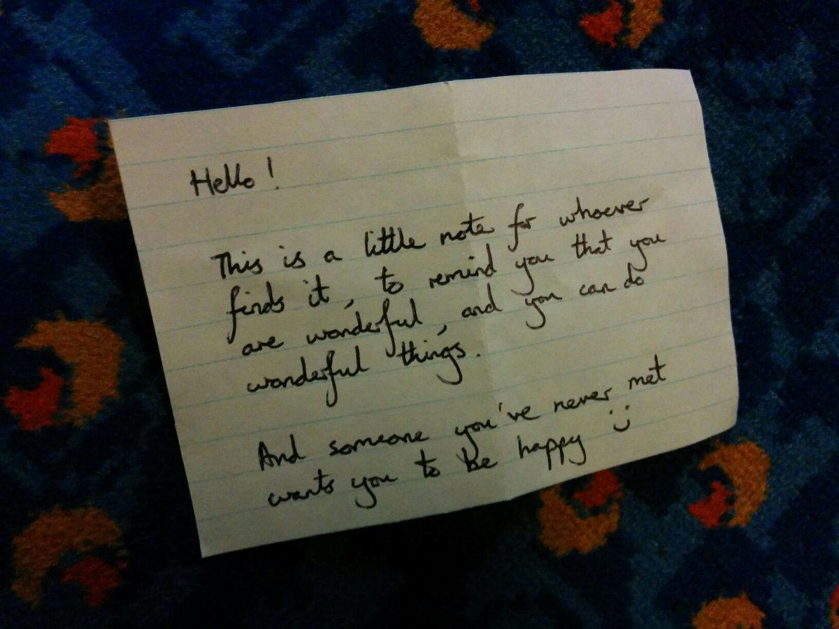 Found a note on the bus on the way home from work. It made me smile! :) http://t.co/wlBIRZlHG5