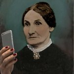 Image of museumselfie from Twitter