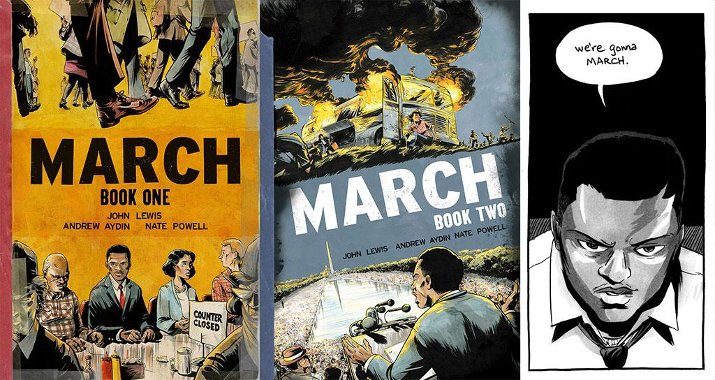 Congressman John Lewis Recruits Another Generation to MARCH with New Graphic Novel http://t.co/ACMNm2S1sc  OUT TODAY! http://t.co/svvaiQeJkv