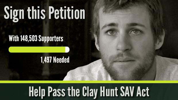 Tell Congress that 22 veterans dying everyday by suicide is 22 too many: http://t.co/d7I6YKgYQH #ClayHunt http://t.co/usKQMTlDCC
