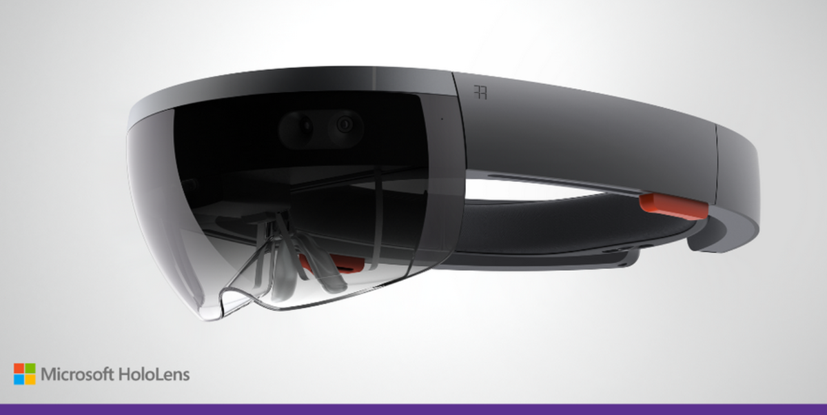 Tommy Lewis (@TommyLee): Image of Microsoft HoloLens. No, this is not a joke. This is real. Hologram AR with APIs you can program. http://t.co/vrZUxMuDAv