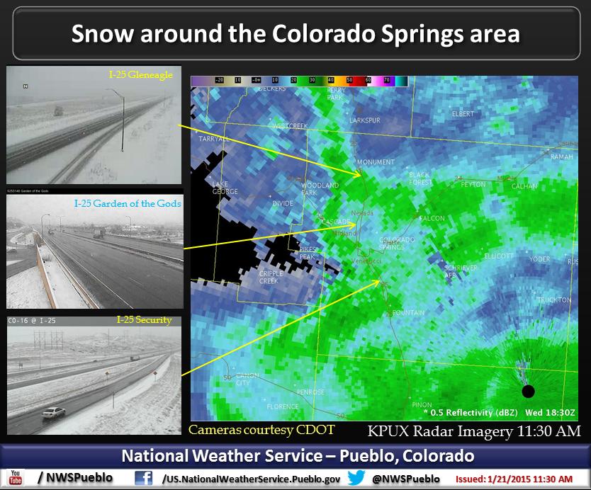 1130am radar & cdot cameras for colorado springs. getting 2-6 ...