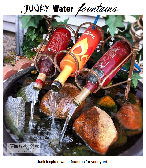 I love this wine bottle fountain http://t.co/OLOaOP6RfK @FunkyJunkDonna  #gardenchat #Diy http://t.co/2o6TumF6bi