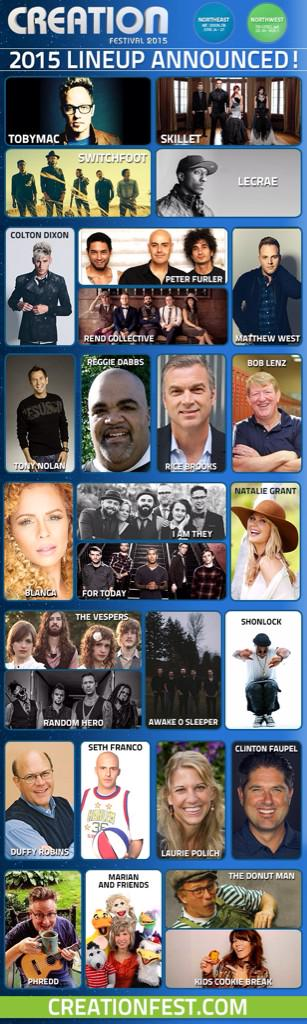 Have you checked out the #CreationFest15 Northeast Lineup yet?! http://t.co/p2K3QdmSn5