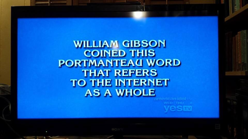 "Re: JEOPARDY! ""The sky above the portmanteau was the color of television, tuned to a dead channel."" @GreatDismal http://t.co/qf4RisUBRr"
