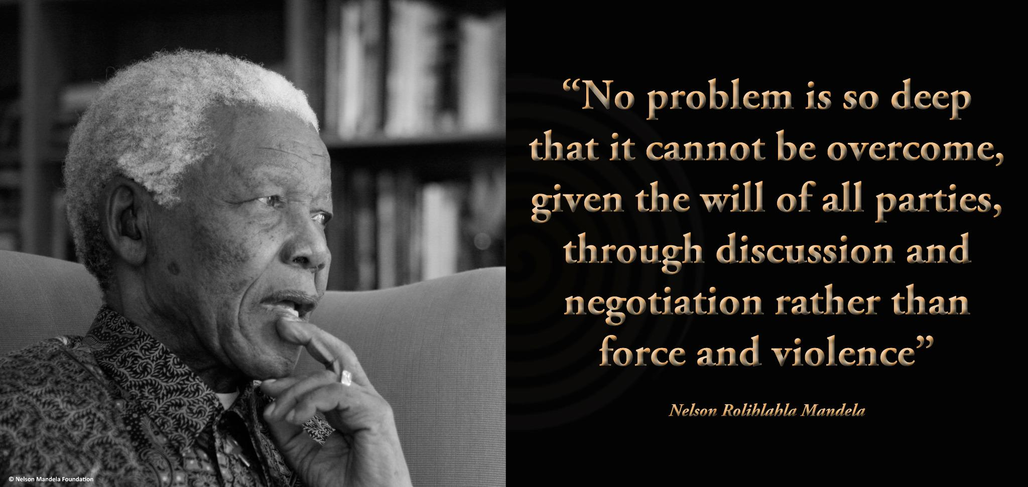 """""""No problem is so deep that it cannot be overcome, given the will of all parties, through discussion & negotiation"""" http://t.co/tkTl86orkL"""