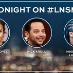 RT @LateNightSeth: TONIGHT: @Jlo, @NickKroll, and a performance from @LupeFiasco! #LNSM http://t.co/ciyTrX8PjY