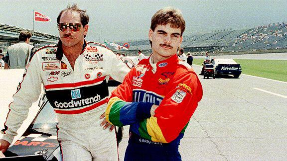 Dale & @JeffGordonWeb in 1993 on pit road. #TBT #NASCAR #Stache #JGFinalLap http://t.co/E1C94tOj5C