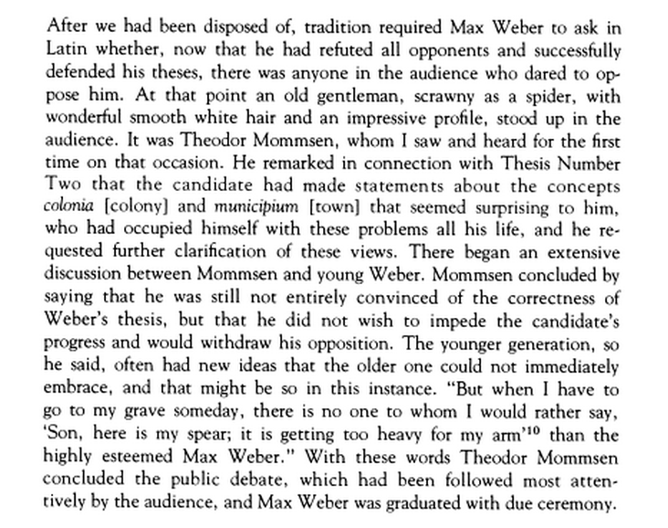 To those that have ever had to defend a dissertation: this blurb recounting Max Weber's defense is amazing http://t.co/y3450TX8LC