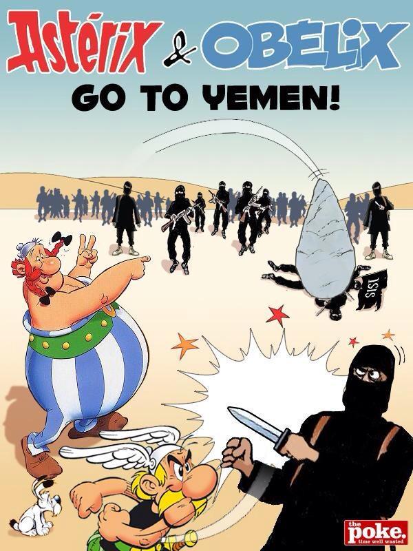 LOL RT @Pritt: Asterix & Obelix gaan naar Jemen. http://t.co/0foNTL6Oo5