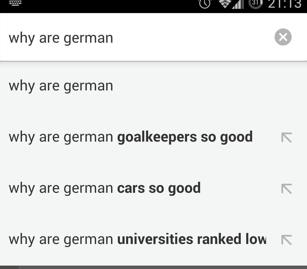 Germany through Google's eyes: Good goalkeepers, great cars and bad universities. http://t.co/dWmFgvamop