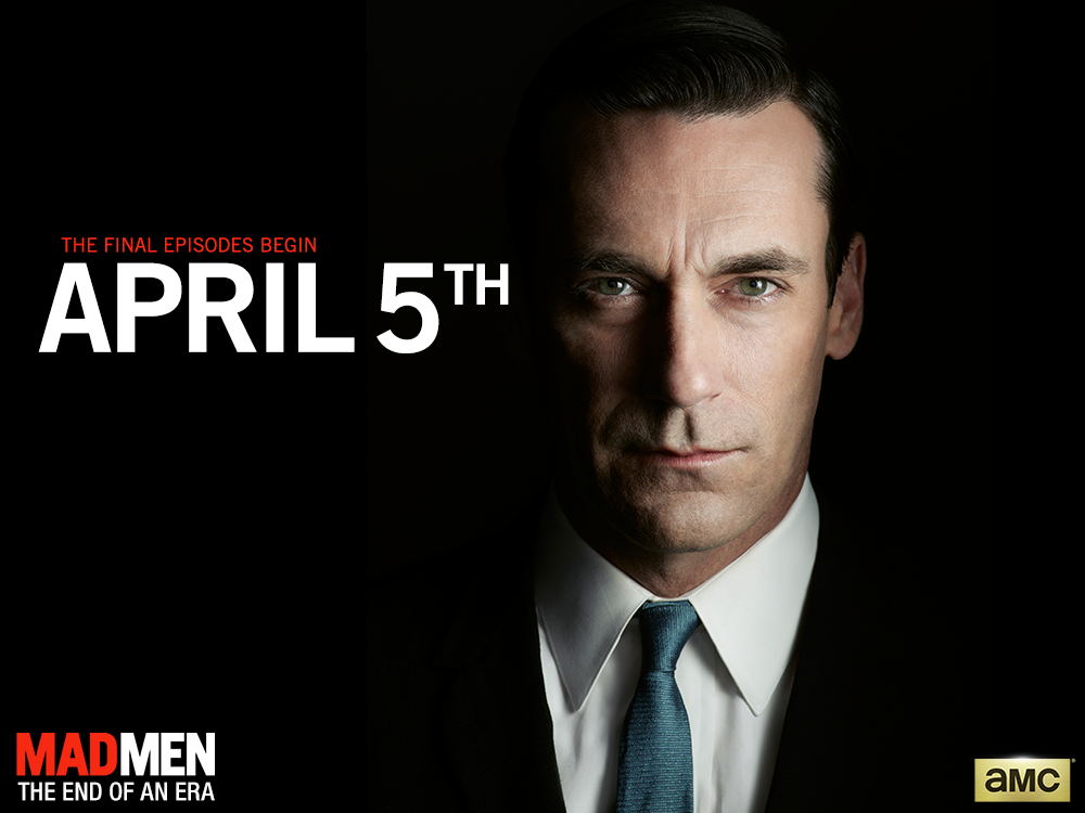 The end of the era begins April 5. #MadMen http://t.co/LcC9XmGIAE