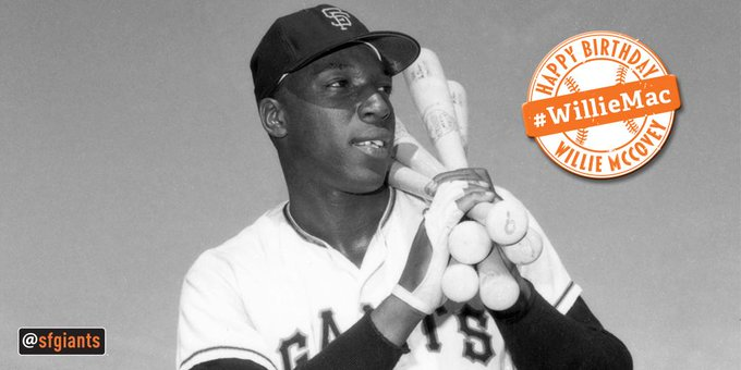 Happy Birthday to Hall of Famer Willie McCovey!