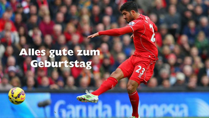 Happy Birthday to Liverpool\s Emre Can. The German midfielder turns just 21 today.