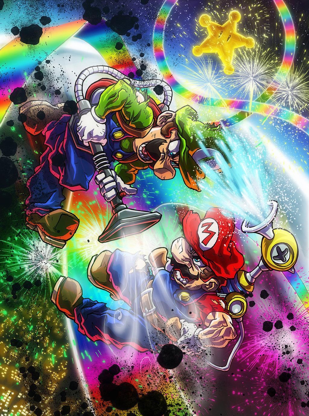 Mario vs. Luigi par Sebastian von Buchwald http://t.co/GwtO47m6ww