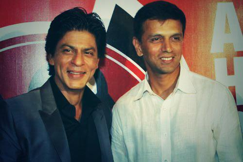 "\"" SRK and Rahul Dravid. Happy Birthday Rahul Dravid."