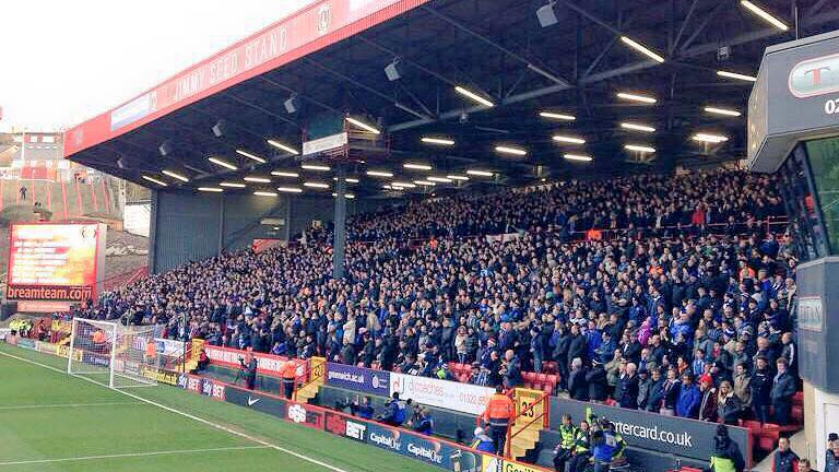 Once again, great Brighton & Hove Albion support at Charlton Athletic today. #bhafc http://t.co/rWfxBtn9cp