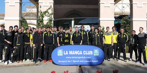 LaMangaClub welcomes back the @BVB for its 4th consecutive visit! Tomorrow they will be training at 10 am and 4 pm. http://t.co/h4cT9fPVwK