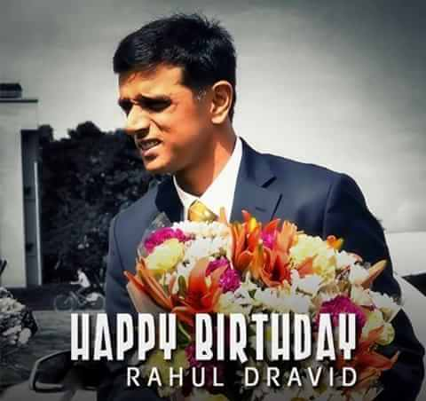 Wishing a happy birthday to the legendary rahul  cricket ll miss u always..