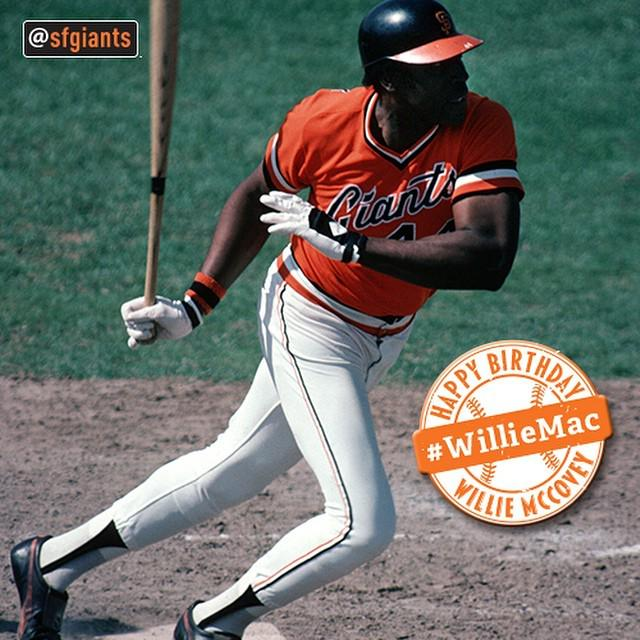 Happy Birthday Hall of Famer Willie McCovey!