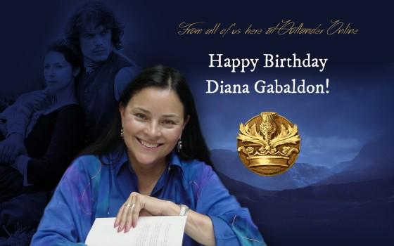 Happy Birthday Diana Gabaldon