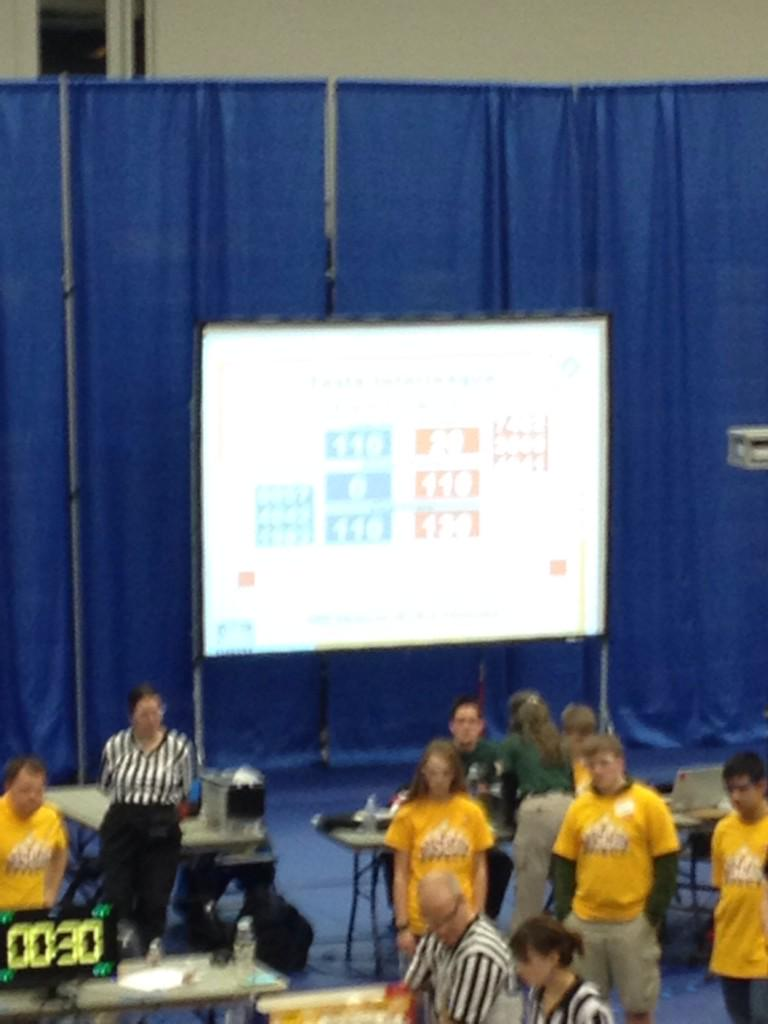 It's hard to see, but the blue team scored as many errors as points, giving red a 20 point win. Blue was robbed. http://t.co/eDiy7mh7y4