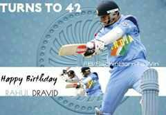 Happy birthday to wall of world cricket RAHUL DRAVID  Still no 1 can Replace him