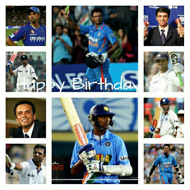 "Happy Birthday to one of the Indian greatest batsman ""Rahul Dravid\""- Grammar of Cricket"