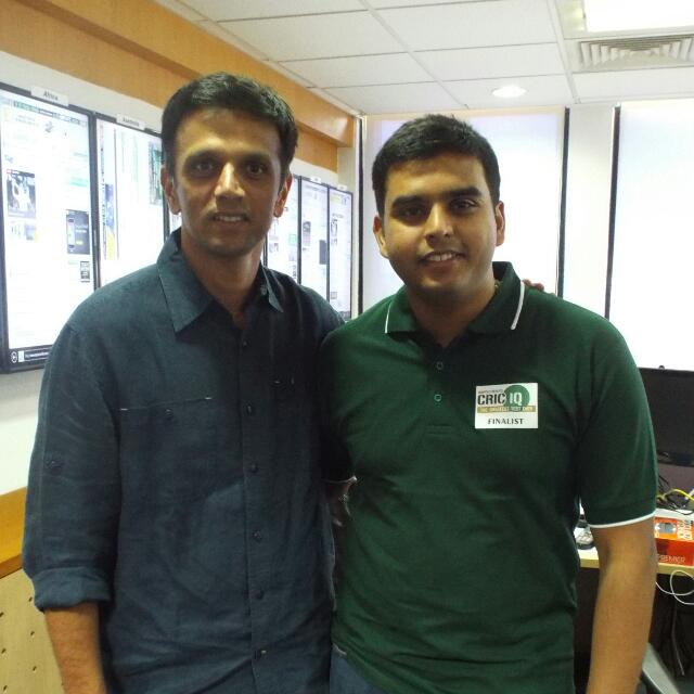 Happy Birthday Rahul Dravid. Meeting you last year, was one of the highlights of my life.