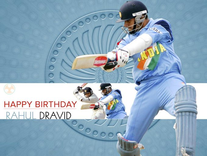 Wishes a very Happy Birthday to the legendary Rahul Dravid, \The Wall\ of Indian Cricket.