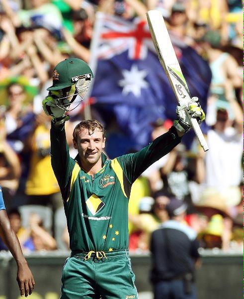 Two years ago today at @MCG, Phillip Hughes became the first Australian to score an ODI century on debut. #cricket http://t.co/745SmL7J3G