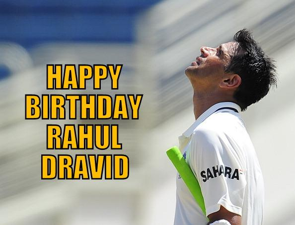 "Happy Birthday to the Wall - Dravid :-) "" Rahul Dravid turns 42 today! Thank you for everything, champ."