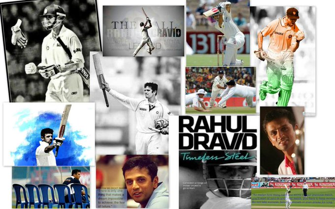 Happy birthday Rahul Dravid,You have always been an inspiration!My hero,my ultimate source of energy