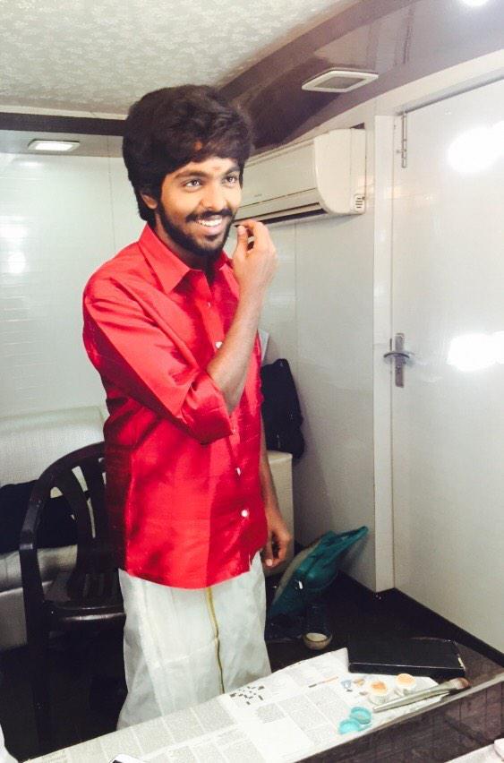 Vijay tv Pongal special shoot for @vijaytelevision  #Darling @gvprakash #Rustic #nativity